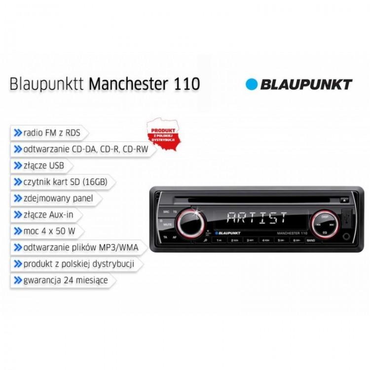 Radio samochodowe Blaupunkt Manchester 110